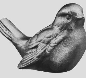 Kuvassa on Hautakivikoriste (pronssikoristeet) pronssi varpunen tumma. Pronssinen varpunen on väriltään tummapatina.