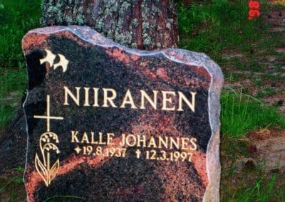 3) Mäntsälän punainen 55x50x15cm.