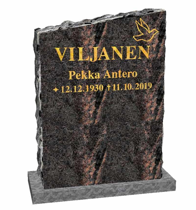 Hautakivi Linnun Lento on Mäntsälän punainen hautakivi. Hautakiveen nimitiedot ja lintukoriste kullattu.