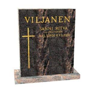 Hautakivi Matkalle Lähtö 2 on Mäntsälän punainen hautakivi. Hautakiveen Kaiverrus ja risti Kullattu.
