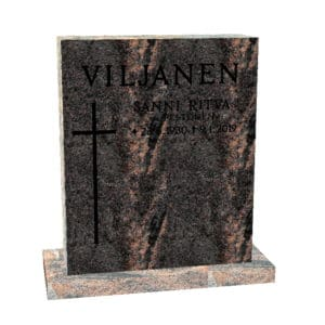 Hautakivi Matkalle Lähtö 3 on Mäntsälän punainen hautakivi. Hautakiveen Kaiverrus ja risti maalattu mustalla.