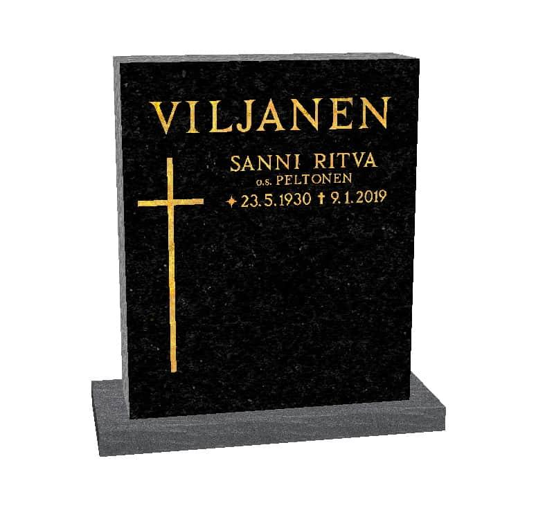 Hautakivi Matkalle Lähtö 4 on Varpaisjärven musta hautakivi. Hautakiveen Kaiverrus ja risti Kullattu.