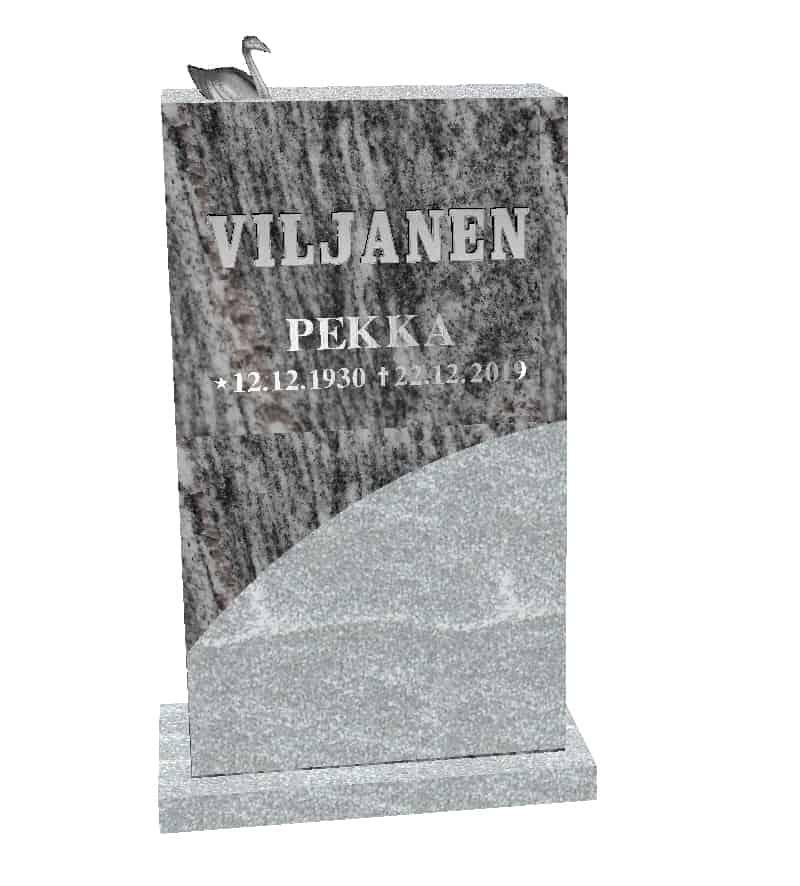 Hautakivi Aalto on Silver cloud koristelulla tehty hautakivi, jossa on joutsenpatsas kromattua pronssia.