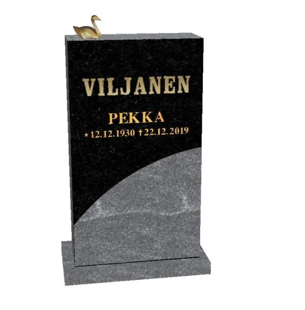Hautakivi Aalto 3 on Varpaisjärven musta. Hautakiven nimitiedot kullattu.