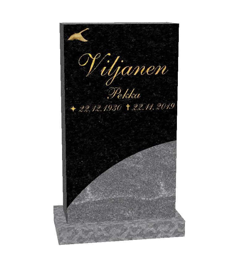 Hautakivi Joutsenlento on varpaisjärven musta hautakivi., jossa on pronssinen lentävä joutsen koriste.